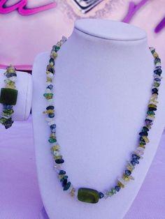 Genuine Peridot Crystal Necklace  #Age #blue #Clear #CrystalHealing #genuinestones #Green #healing #makeitaset #Necklaces #New #peridot #PRECIOUS #Quartz #real #Spiritual #yellow