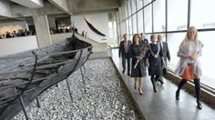 Crown Princess Mary visits the Viking Ship Museum in Roskilde, Denmark 4/10/2014