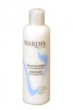 NARDIS Μαλακτική Για Βαμμένα Μαλλιά 1000ml Μαλακτική κρέμα για βαμμένα μαλλιά. Χάρις στα εκχυλίσματα ηλίανθου, βιταμίνης Β5 και πρωτεινών μεταξιού που περιέχει προστατεύει την τρίχα ενώ χαρίζει λάμψη και μεταξένια απαλότητα. Βοηθάει στο ξεμπέρδεμα των μαλλιών χωρίς να τα βαραίνει.Τιμή €3.95 Shampoo, Conditioner, Personal Care, Beauty, Woman, Self Care, Personal Hygiene, Beauty Illustration
