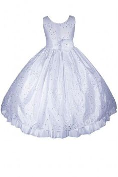 Free Hair Wreath + Flower Girl Pageant Holiday Party Dress #E1666