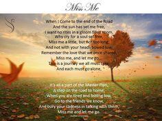 Funeral Poem Miss Me