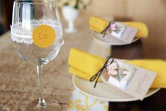 feel the love with 7 fall bridal shower ideas | garter place cards | CherylStyle.com