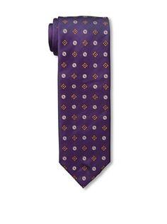 64% OFF Massimo Bizzocchi Men's Floral Tie, Purple