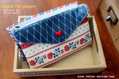 Envelope purse, envelope clutch, envelope bag, envelope handbag, digital pdf , sewing pattern sewing tutorial, Story Quilt, patternpile, pattern pile, pile of pattern