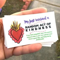 Do something nice for someone today | Random Act of Kindness Cards