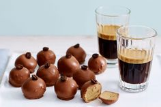 For the perfect after dinner treat try these creamy mocha truffles.