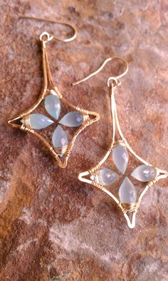 earrings ( This style would make cool Christmas earrings. A little adaptation and you could have holly leaves.)