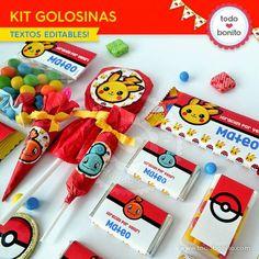 Pokémon: kit etiquetas de golosinas