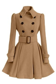 Cheap fashion trench coat, Buy Quality trench coat directly from China trench coat fashion Suppliers: 2017 Fashion Europe Winter Autumn Woolen Coat Belt Buckle Trench Coat Double Breasted Coat Long Sleeve Casual Dress Full Skirt Long Brown Coat, Long Wool Coat, Fit And Flare Coat, Khaki Coat, Camel Coat, Belted Coat, Trench Coats, Women's Coats, Women's Fashion Dresses