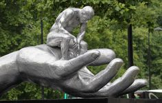 Hand of God by Lorenzo Quinn installed on Park Lane, Mayfair  Iconic New Public Sculpture for London