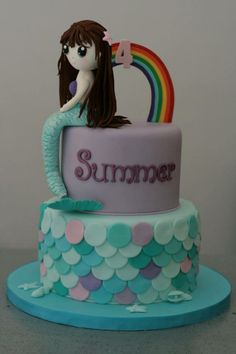 Mermaid and rainbow