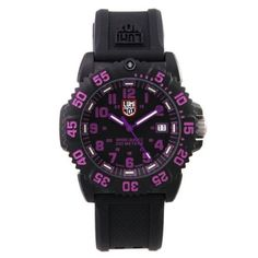Special Offers Available Click Image Above  Luminox Womens Colormark Purple  Resin Watch - Black Rubber Strap - Black Dial - c6c54b3fa