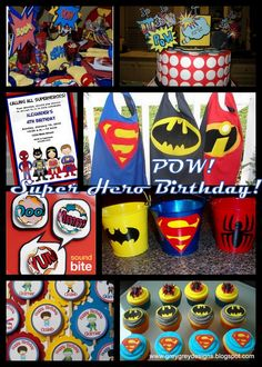 Superhero Party- capes and cupcakes, oh my!