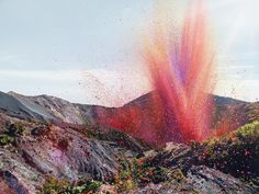 Flower Petals Explode Like A Volcano Over Town In Costa Rica (PHOTOS)