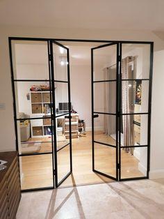 House Extension Plans, House Extension Design, House Design, Door Design Interior, Luxury Interior Design, Interior Glass Doors, Glass Room Divider, Room Divider Doors, Door Dividers