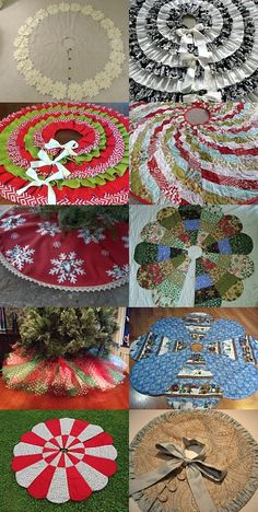 Christmas Tree Skirts by Ann Zipper on Etsy Xmas Tree Skirts, Christmas Tree Skirts Patterns, Christmas Skirt, Christmas Sewing, Christmas Love, Christmas Projects, Holiday Crafts, Vintage Christmas, Christmas Stockings