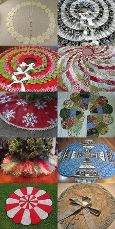 #Christmas Tree Skirts #christmas #snow More