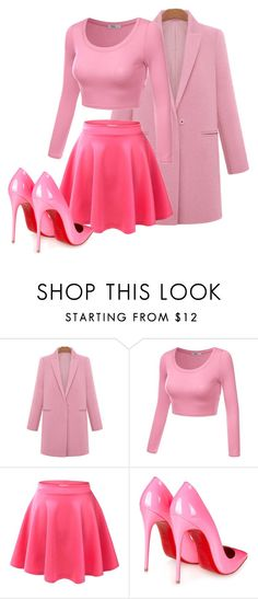 Ms. Pink by jacinta-kolle on Polyvore featuring J.TOMSON and Christian Louboutin