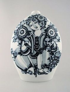 Porcelain Vase, Studio, Detail, Tableware, Blue, Ebay, Decor, Art, Kunst