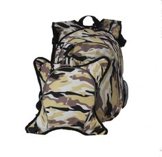 O3 Innsbruck Diaper Bag Backpack with Detachable Cooler, Camo.
