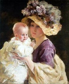 American Painter:  William Henry Cotton (1880–1958), 'Mother and Child'