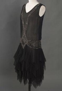 Charleston - The ruffles would really show. Add some sequin fringe here and there. Peak sleeve w/ fringe as well.