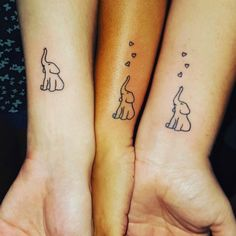 Sibling tattoo Design on Wrist