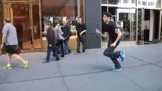 Ben Aaron combines some of our favorite things into the best fitness program ever. Watch, dance, repeat. I have a feeling this will be catching on very quickly.