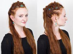 Lagertha Battle Braids Style in Season 5 of Vikings - Modern Lagertha Hair, Vikings Lagertha, Fantasy Hair, Fantasy Jewelry, Vikings Season 5, Fairytale Hair, Norse Clothing, Cinderella Hair, Princess Hairstyles