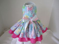 Dog Dress XS   Spring  Blue  Butterfly   By by NinasCoutureCloset, $30.00