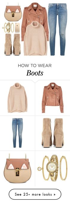 """Stay True"" by monmondefou on Polyvore featuring 7 For All Mankind, River Island, Yves Saint Laurent, Anne Klein, MANGO, brown and beige"