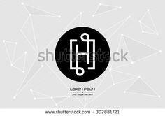 Abstract concept creative vector letter H. Colorful app logo icon element isolated on background. Art illustration creative template design for business software sign and social media lined symbol.