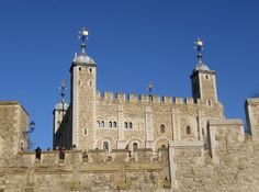 The Tower of London, one of the medieval residences of the English Royal Family