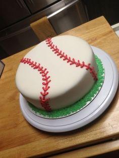 Teenage Boy Birthday Party-birthday cake-cake-baseball-baseball cake-baseball theme