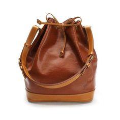 Louis Vuitton Noe Epi Shoulder bags Brown Canvas M44028