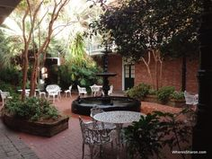 New Orleans Hotel Provincial courtyard