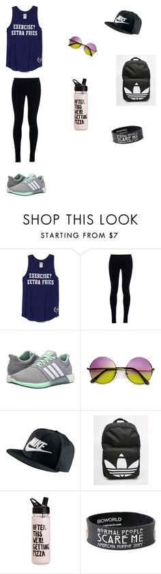 """Hiking outfit ⛰"" by trashchic ❤ liked on Polyvore featuring NIKE, adidas, women's clothing, women, female, woman, misses and juniors"