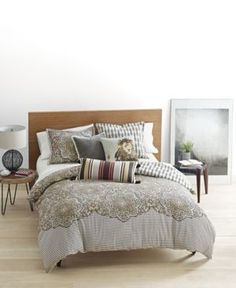 Whim by Martha Stewart Collection Bohemian Rhapsody Reversible Seashore Tan 3-Pc. Full/Queen Comforter Set, Only at