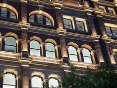 "H&M Sydney, Australia - dpa lighting consultants - ""Right Light, Right Place, Right Time"" ™ Facade Lighting, Lighting Design, Window Reveal, Mall Design, Spanish Architecture, Street Mall, Building Facade, Facade Design"