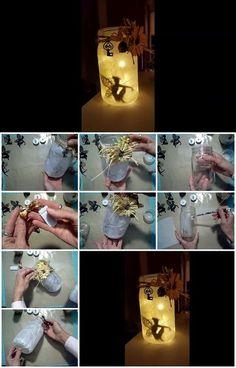 How to Easily Enchant Any Room with These Magical DIY Fairy Lanterns Pot Mason Diy, Mason Jars, Mason Jar Gifts, Bottle Art, Bottle Crafts, Baby Nursery Diy, Diy Baby, Girl Nursery, Nursery Ideas