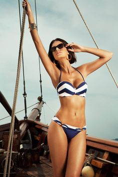 Nantucket Chevron Bikini -  if I could wear a bikini, this would be the one.  Maybe in my next life, le sigh!