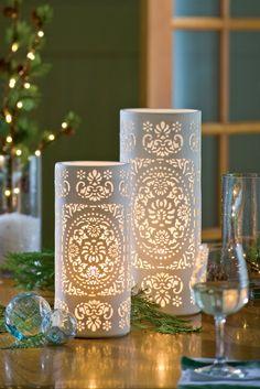 Pierced Porcelain Table Lamps | Buy from Gardener's Supply