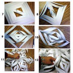 PATTIES CLASSROOM: Making Giant Paper Snowflakes
