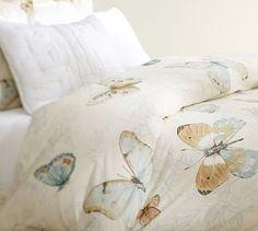 Butterfly Duvet Cover & Sham #potterybarn