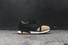 Diadora N.9000 - Black / Tan