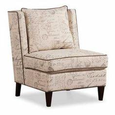 French Script Armless Chair