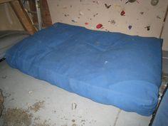 Homemade Crash Pad....craft store foam, and a duvet cover...
