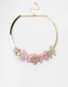 Image 1 ofLipsy Butterfly Cluster Collar Necklace