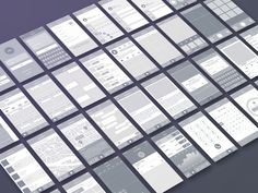 Ad: Wireframe & UI Elements by Sunbzy on The wireframe includes have 40 pages and 100 UI Elements for web, tablet and mobile devices. It's made for iPhone resolution. Can see Web Design, Page Design, Graphic Design, Ui Kit, Iphone Ui, Wireframe Design, User Flow, Ui Elements, Ui Inspiration