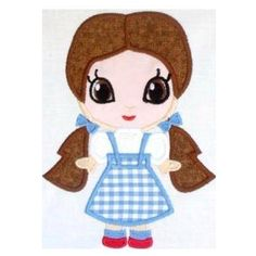 Dot  Little Princess  Cutie Machine Applique Embroidery Design, Multiple Sizes , including 4 inch